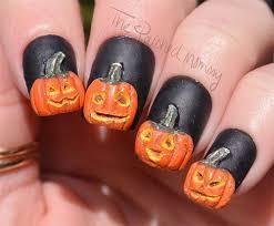 Halloween Nail Art Pumpkin - 69 best halloween pumpkin nail art images on pinterest halloween