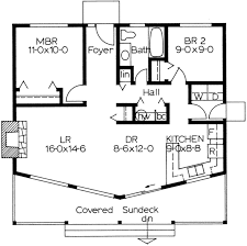 cottage style house plan 2 beds 1 baths 884 sq ft plan 126 110