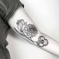 alchemist s valley medium sized black and white tattoos
