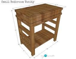 Bathroom Vanity Woodworking Plans Small Bathroom Vanity Buildsomething Com