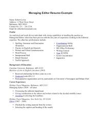 Managing Editor Resume Sample Resume Of Editor Augustais