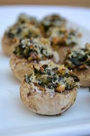 gruyere and spinach stuffed mushrooms minced