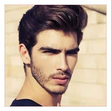 mens short sides hairstyles plus thich wavy comb over with beard