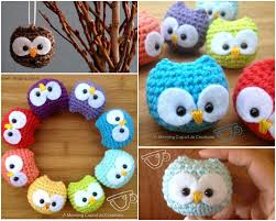 owl ornaments crochet baby owls that look adorable as ornaments