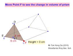 Volume Of Rectangular Prisms Worksheets Volume Of Triangular Prism Geogebra