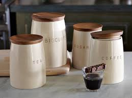 Wooden Kitchen Canisters 100 Coffee Kitchen Canisters Amazon Com 4 Piece Décor