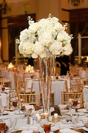 hydrangea wedding centerpieces white hydrangea and baby s breath wedding centerpiece flowers
