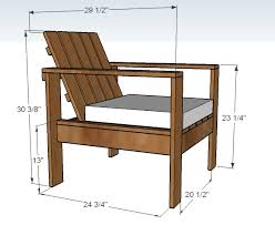 Free Diy Outdoor Furniture Plans by Making Wooden Chairs For Outside Ana White Build A Simple