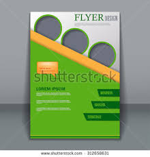 abstract white green orange brochure cover stock vector 562595602