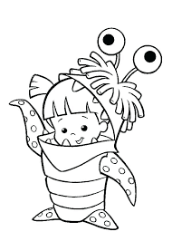 coloring page monsters inc scary monster coloring pages denvermetro info