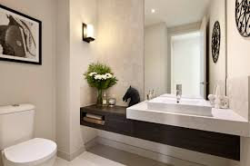 Modern Powder Room Carlisle Homes 5000 London Grey Caesarstone Bathrooms