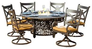 Fire Pit And Chair Set Bistro Style Fire Pit Table And Chairs Set Home Fireplaces