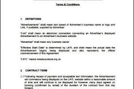 website advertising contract template templatezet