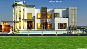 3d front elevation com 3 kanal modern contemporary house design