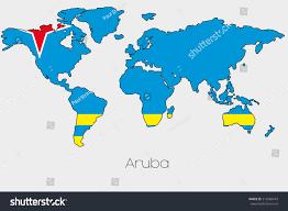 World Map With Flags Aruba World Map My Blog Panama On World Map Destinations Cruise