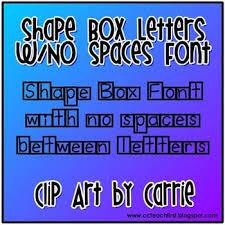 shape box letters no space between letters font tpt