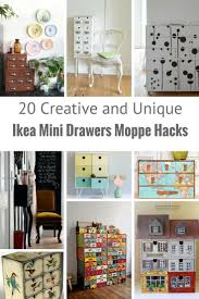Ikea Wall Art To French by The Most Unique Ways To Hack Moppe Ikea Mini Drawers Pillar Box Blue