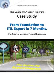 itil expert certification case study