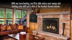 carlton 46 direct vent gas fireplace by kozy heat youtube
