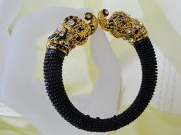 black jewelry bracelet images Indian jewelry bracelet minakari bead jewellery black beads jpg