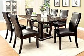 amazon com furniture of america alfaro 7 piece modern faux