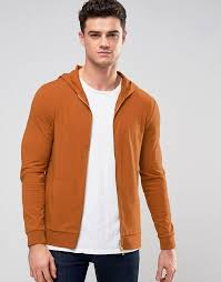 asos muscle zip up hoodie in burnt orange where to buy u0026 how to wear