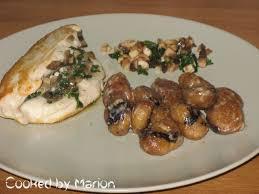 cuisiner marrons frais filets de poulet aux chignons accompagné de marrons à la crème