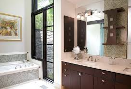 using kitchen cabinets for bathroom vanity with contemporary wall