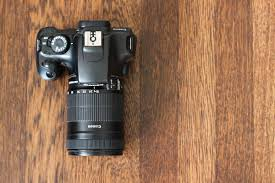 Wooden Table Top View Free Stock Photo Of Top View Of Dslr Camera On Wooden Table