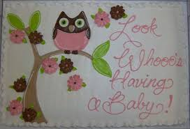 owl baby shower cake oakmont bakery