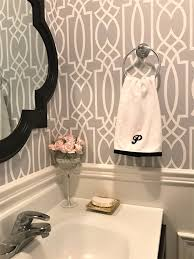 Grey And White Bathroom by Bathroom Wallpaper Archives A Purdy Little House
