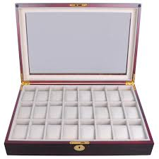 jewelry box 20 24 wood mens display glass top organizer