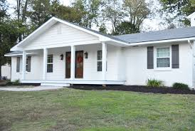 ranch homes with front porches adding a front porch to a brick ranch beneath my heart pictures of