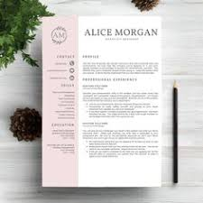 modern resume template for use with microsoft word awesome cv