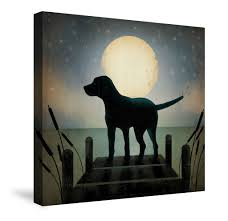 halloween canvas paintings what colors to use for a blended black background look moonrise black dog canvas wall art art pinterest canvas