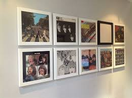 great idea for cheap wall art old album covers in frames wall