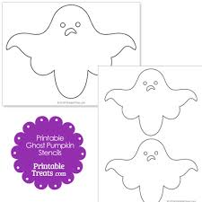 printable ghost pumpkin stencils u2014 printable treats