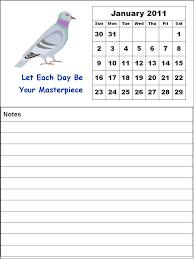 menu calendar template