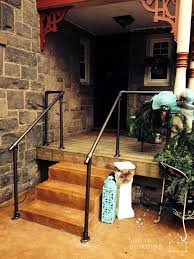 Porch Steps Handrail Front Steps Deck Railing Pipe Railing Pinterest Front Steps