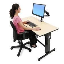 Stand Sit Desks by Ergotron Workfit D Sit Stand Desk Stand Steady