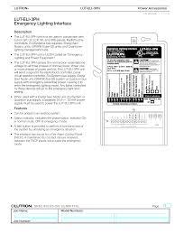 unit equipment emergency lighting lut eli 3ph emergency lighting interface