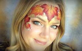 fall leaves makeup and face painting tutorial youtube