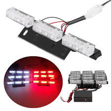 red and white led emergency lights firefighter lights ebay