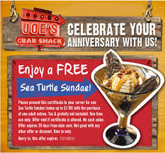 coupons for joe s crab shack joe s crab shack free sea turtle sundae printable coupon joe s