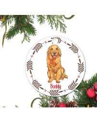 shopping special golden retriever ornament personalized