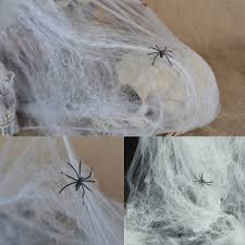 noctilucent spider web cotton bar party haunted house halloween