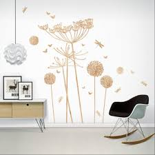 dandelions and cowparsley wall stickers woodland dandelions cowparsley wall stickers