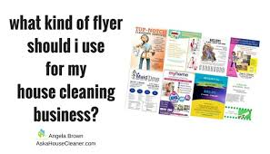 flyers for my house cleaning company angela brown oberer