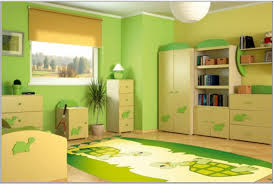 Bedroom Decor Green Walls Mesmerizing Teenage Girls Bedroom Interior With Green Wall Paint