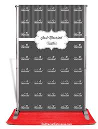 wedding backdrop banner just married wedding backdrop carpet kit 5x8 carpet